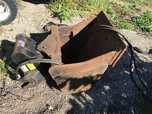 Woods Articulating Hydraulic Shaping Tilt Bucket For Jcb 212 212s More