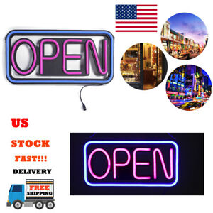 Rectangle Open Sign Led Hang Light Outdoor Waterproof Practical Spectacular New