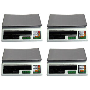 4 Digital Deli Weight Scales Price Computing Food Produce 60lb Acs 03
