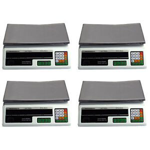4 Digital Deli Weight Scales Price Computing Food Produce 66lb Acs 03