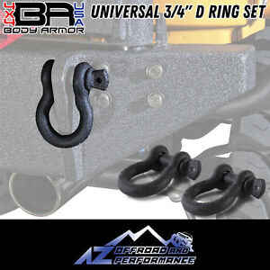 Body Armor 4x4 Universal 3 4 D Ring Set 3202 Free Shipping