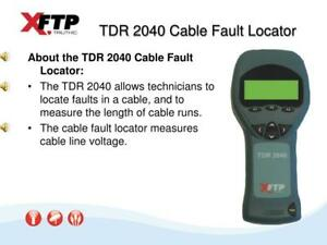 Trilithic Tdr 2040 Cable Fault Locator Used Powers On No Accessories Warr