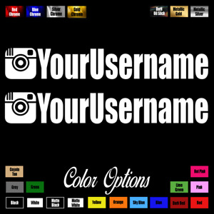 Two 2 Custom Your Username 11 Instagram Euro Drift Jdm Vinyl Decal Sticker 6