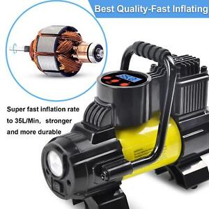 Portable Tire Inflator Air Compressor Pump dc 12v Tire Pump 140w 150 Psi 2pack
