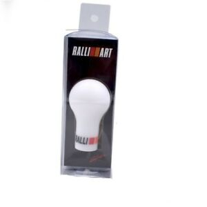 Ralliart Manual Gear Shift Knob Shifter White For Lancer Evo Gto Fto Mirage Vr4