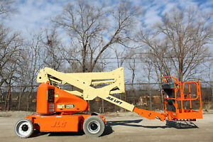 2011 Jlg E400an Electric Narrow Articulaiting Boom Lift Aerial Lift Awp Man Jlg