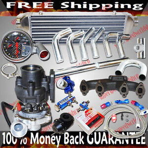 Turbo Kits T3 t4 Turbo For Vw Jetta 93 05 Gl 94 04 Gls Sedan 4d 2 0l I4 V8only