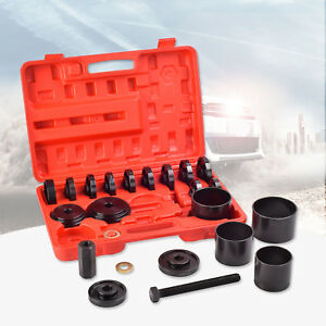 New 23 Pcs Front Wheel Bearing Press Kit Removal Adapter Puller Pulley Tool Case