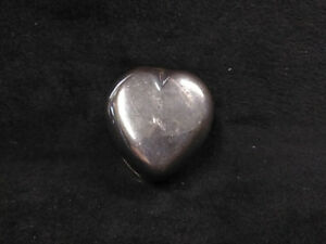 Vintage Taxco Mexico Sterling Silver Heart Shaped Pill Box