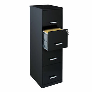 Ebern Designs Cavitt 4 Drawer Vertical Filing Cabinet