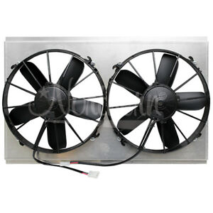 Northern Z40092 Universal Dual 12 Electric Radiator Fan Shroud Combo 26 X 15