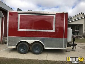 7 X 14 Food Concession Trailer With Truck For Sale In Michigan