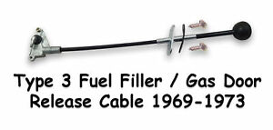 Vw Type3 1969 1973 Gas Door Release Cable Complete Notchback Squareback Fastback