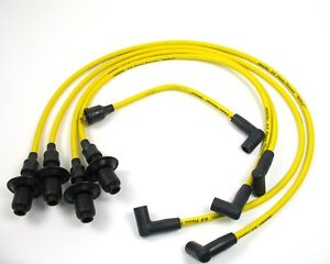 Pertronix Spark Plug Wires 804505 Yellow 8mm Vw For Hei Male Terminal Cap
