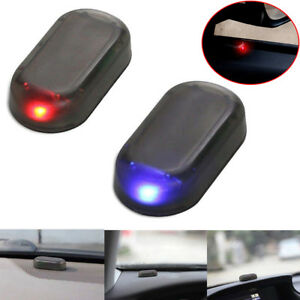 Solar Car Alarm Led Light Security System Warning Theft Flash Blinking Red blue