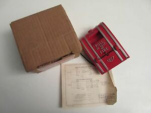 Nos Edwards Signaling 270a spo Fire Alarm Pull Station Spno Wire Leads W box