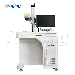 50w Fiber Laser Marking Machine Laser Engraver 300 300 And Rotary Axis Fedex