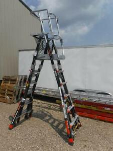 Little Giant Ladder 19506 244 Compact Safety Cage Ladder Step Adjustable
