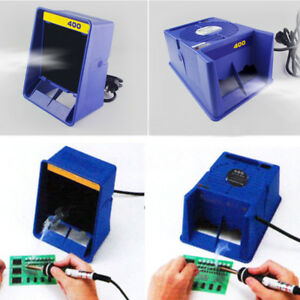 Blue Solder Smoke Absorber Remover Fume Extractor Air Filter Fan For Soldering