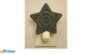 Brand New Primitive Star Night Light Punched Tin