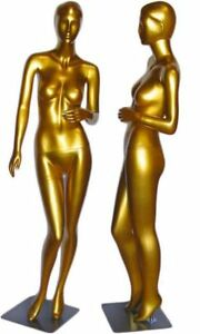 Tonya Gold Abstract Female Mannequin With Face Features