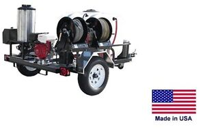 Pressure Washer Hot Water Trailer Mount 200 Gal 4 Gpm 4000 Psi 12v Ar