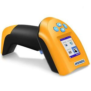 Wireless Usb Barcode Scanner Handheld Cordless Laser Rechargeable Lcd Screen