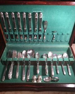 55 Pc Vintage Holmes Edwards Silverware With Box With 5 Bonuses