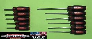 Usa Made Craftsman Professional Screwdriver Torx Set T10 T40 11pcs Nos Us