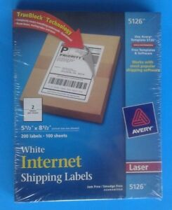 Avery Shipping Label 5126 5 5 W X 8 5 L Permanent 100 Pack White 200 Label