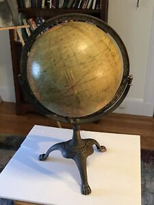 Rare Vintage Weber Costello 12 Globe In Cast Iron Paw Foot Stand