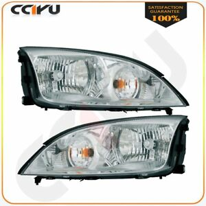 20 6724 00 20 6723 00 Pair Headlights Assembly For 2005 2007 Ford Focus