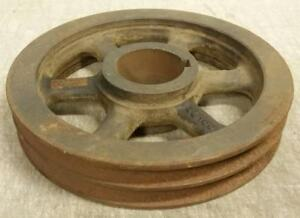 Rockwood Cast Iron 2 groove V belt Tractor Sheave Pulley 9 75 Od 2 7 16 Bore