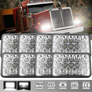 8x Universal 4x6 Led Projector Sealed Beam Headlight Driving Headlamp 45w