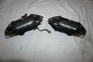 Porsche 911 964 Oem Set Of Brembo Rear Brake Calipers 4 Piston Free Shipping