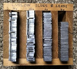 Linotype Lead Alloy 17 Pounds Letterpress Ludlow Slugs & Leads Bullet Casting