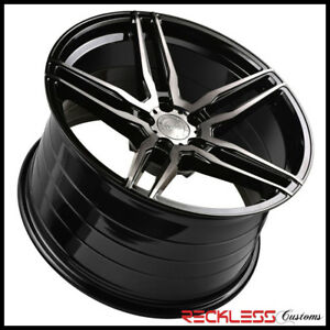 20 Vertini Rf1 6 Concave Black Wheels Rims Fits Ford Mustang Gt Gt500