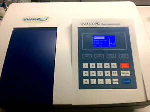 New Vwr 10037 436 Uv vis Spectrophotometer Uv1600pc Free Shipping Usa