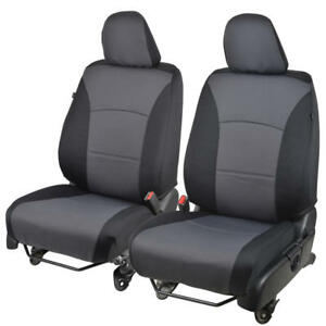 Form Fitting Front Car Seat Covers For Honda Toyota Hyundai Gray Black