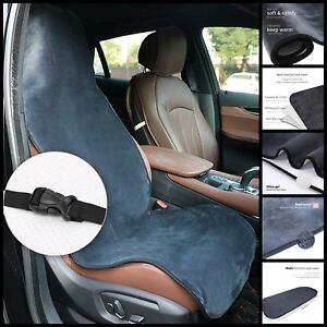 Soft Plush Velvet Seat Cover Winter Warm Waterproof Universal Fit 54 5 l Grey