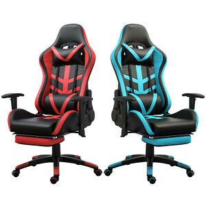 Samincom Ergonomic Gaming Chair With Soft Headrest Lumbar Cushion Footrest