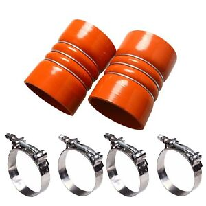 Charge Air Cooler Hump Hoses Silicone 4 X 6 With Clamps Pair High Temp 4 Inch