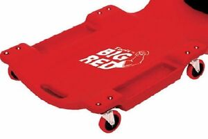 Mechanic Creeper Bed Heavy Duty Auto Body Shop Tools Garage Repair Rolling Red
