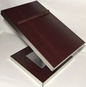 Vtg Jcpenney Countertop Retail Display Double Shoe Stand Wood And Metal