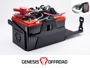 Genesis Offroad Dual Battery Kit W Isolator Monitor For 2018 Jeep Wrangler Jl
