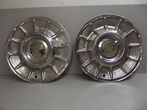 Lot Of 2 Used 1957 Cadillac Hubcaps
