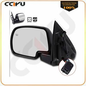 Chrome Heated Power Side View Mirror Lh Driver For 99 02 Chevy Gmc Truck 955 064
