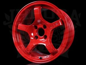 Rays Gram Lights 57cr Wheels Milano Red 15x8 4x100 35 Civic Integra Miata