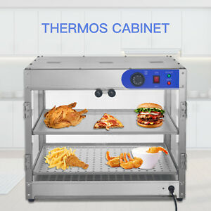 Commercial 2 tier Countertop Food Pizza Warmer Display Cabinet Case 24 x20 x20