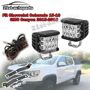 Fit Chevrolet Colorado Gmc Canyon Front Windshield Fog Light Pod Mount Wire Kits